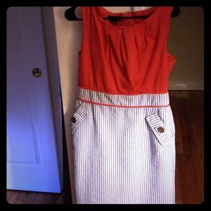 Alyx red dress with stripes and pockets! Sz 10